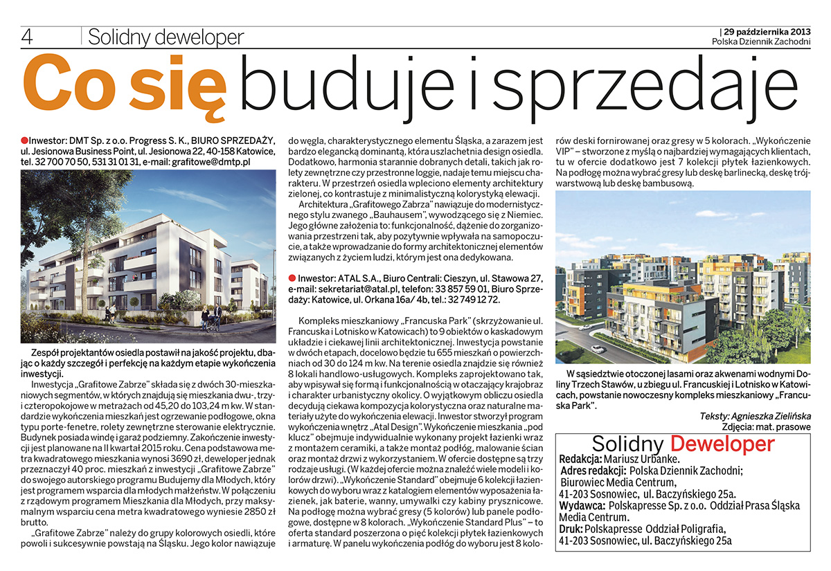 KAT Solidny deweloper 2013-10-29 : Katowice - Dodatek Specjalny